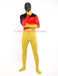 The Germany Flag Cheap The Germany Flag Lycra Spandex Full Body Zentai Suit Sale At