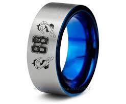 colorado wedding band denver broncos blue tungsten wedding band ring brushed cut nfl
