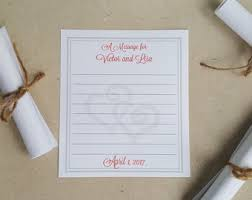 wedding wishes and advice wish scroll etsy