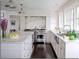 Beautiful White Kitchen Cabinets Awesome Quartz Countertops Composition Glamorous Pictures Of