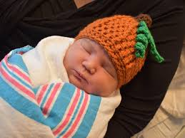 labor and delivery nurses knit halloween hats for newborns at st