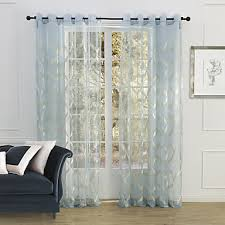 Sheer Curtains Grommet Top Rod Pocket Grommet Top Tab Top Double Pleated Two Panels Curtain