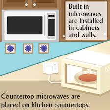 table top microwave oven built in vs countertop microwave oven analyze and choose