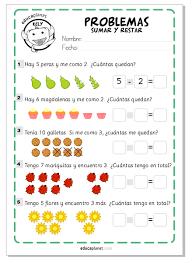 problemas razonados para cuarto grado ejercicios sumar restar matemáticas fichas gratis infantil y