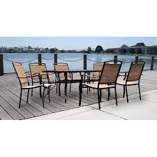 heritage park round dining table walmart mainstays glass top outdoor dining table patio furniture