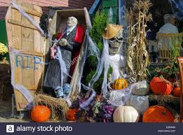 a halloween store display at the rockport harvest festival in