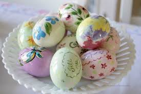 ceramic easter eggs personalized vintage ceramic easter eggs wm7266 grateful prayer