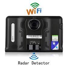 udricare 7 inch gps android gps navigation dvr radar detector 16gb