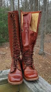 s boots lace up awesome vintage s brown leather frye lace up boots
