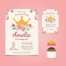 birthday invitation princess birthday invitation with flowers vector free