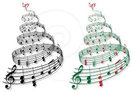 Music Christmas Tree Ornament by Christmas Music Clipart Black And White Clipartxtras