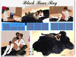 second life marketplace black bear rug single u0026 romance menu