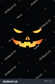 scary face halloween pumpkin vector stock vector 112594904