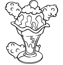 free ice cream sundae coloring pages 3966 ice cream sundae