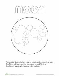 moon coloring education free resources assorted