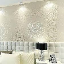 Designer Bedroom Wallpaper Bedroom Wallpaper Design Floral Textured Damask Design Glitter