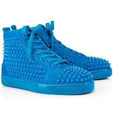 cheap red bottoms christian louboutin louis spikes mens flat suede