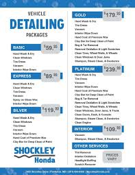 toyota car detailing vehicle detailing packages shockley honda