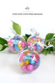 Homemade Pom Pom Decorations Diy Pom Pom Christmas Baubles U2013 Make And Tell