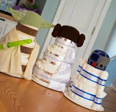 star wars inspired baby shower decorations diaper cakes
