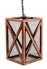 Wood Pendant Light Jodene Brown Wood Pendant Light 1 Cn L000788 Ls