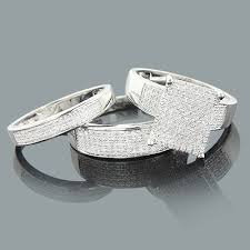 silver wedding rings ring sets diamond wedding ring set 0 52ct sterling silver