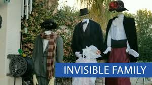 family dresses up as invisible people for halloween youtube