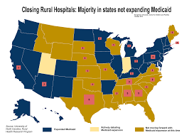 Georgetown Map Rural Hospital Closures Tracking Tool Shows Impact In States