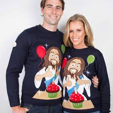 happy birthday jesus sweater from funky