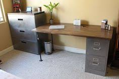Pottery Barn Mega Desk Pottery Barn Inspired Desk Using Goodwill Filing Cabinets