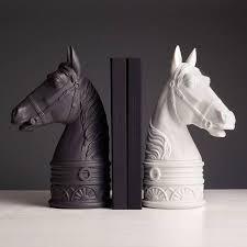 horse bookend black l u0027objet