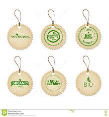 eco friendly organic natural product web icon tag set green logo