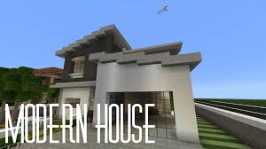 modern hous how to build a modern house in minecraft pe best house 2017