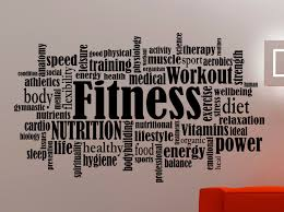 fitness wall decal gym stickers gym words sports wall art gym zoom