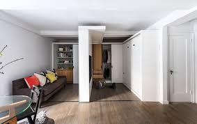 36 sqm micro apartment interior with space saving furniture idea