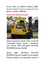 hyster d001 h1 50 xm h1 75xm h2 00xms europe forklift service repai u2026