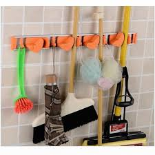 amazon com broom mop dustpan holder organizer garage storage