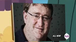 Gabe Newell Memes - 606558 all new chicken mosaic gabe newell hub logo meme