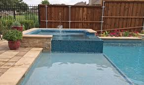 small pool with tub and tanning ledge google search home