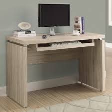 Small Wood Computer Desk With Drawers Minimalist Wooden Computer Desk Pull Out Keyboard Tray
