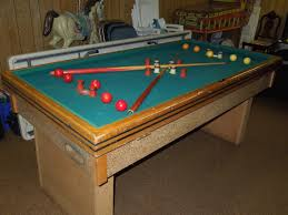 Bumper Pool Tables For Sale Genco Official Tournment Bumper Pool Table Antique Appraisal