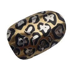online store chix nails nail wraps gold jaguar animal print