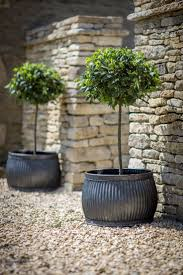 planters pots galvanized metal containers with shrubs best large