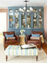 Blue Leather Armchair Decorating Around A Leather Sofa Centsational Style