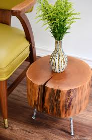 tree stump side table with mix and match diy leg options u2013 diy