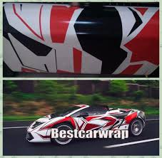 pixel car 2017 new red camo vinyl car wrap styling with air release luxury