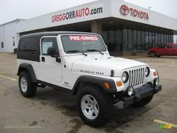 2006 jeep wrangler unlimited rubicon 4x4 in stone white photo 8