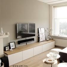 mijn tv meubel ikea besta hack met eikenhouten plank emi frl