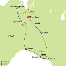Map Northern Italy by Cosmos Tours Northern Italy 2016