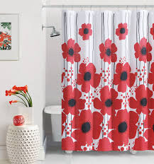 Shower Curtains With Red In Them Red Poppy Shower Curtain At Home At Home